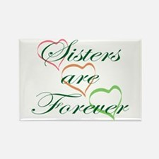 Sisters Are Forever Rectangle Magnet