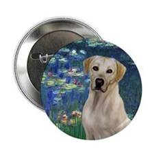 "Lilies 5 - Yellow Lab #8 2.25"" Button"