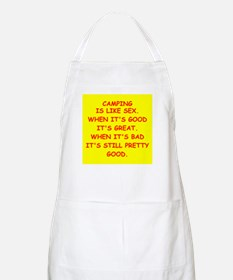 i love camping Apron