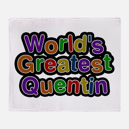 World's Greatest Quentin Throw Blanket