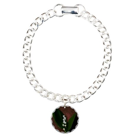 Lily of the Valley Charm Bracelet, One Charm
