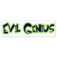 Evil Genius Bumper Bumper Sticker
