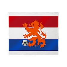 Orange Football Lion Throw Blanket