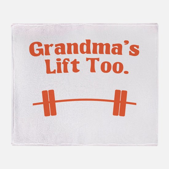 Grandma's lift too Throw Blanket