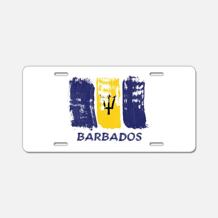 Barbados Aluminum License Plate