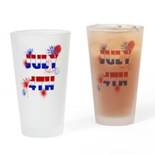 Celebrate July 4th Drinking Glass