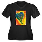 Bright Valentine Women's Plus Size V-Neck Dark T-S