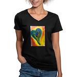 Bright Valentine Women's V-Neck Dark T-Shirt