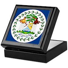 Belize Country Flag Keepsake Box