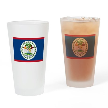 Belize Country Flag Pint Glass