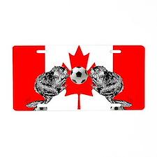 Canadian Beaver Flag Aluminum License Plate