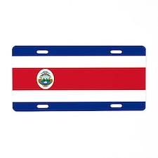 Flag of Costa Rica Aluminum License Plate