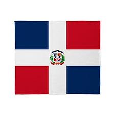 Dominican Republic Flag Throw Blanket