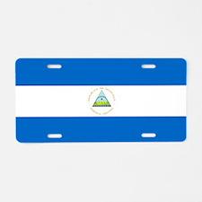 Flag of Nicaragua Aluminum License Plate