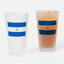 Flag of Nicaragua Drinking Glass