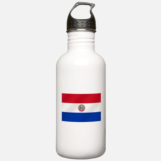 Flag of Paraguay Water Bottle