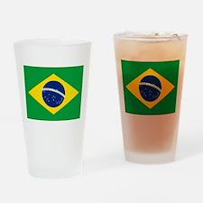 Brazil Flag Pint Glass