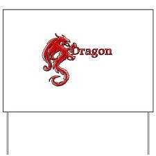 Red Dragon Yard Sign