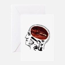 Coffee For Brains Greeting Card