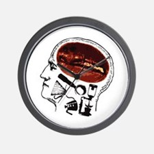 Coffee For Brains Wall Clock
