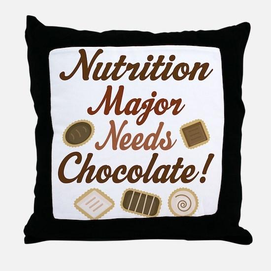 Nutrition Major Gift Throw Pillow