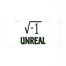 Cute Math humor Aluminum License Plate