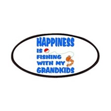 Happiness Is Fishing With Gra Patches
