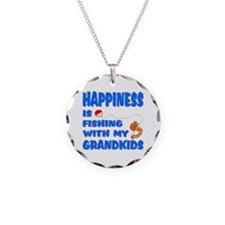 Happiness Is Fishing With Gra Necklace