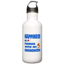 Happiness Is Fishing With Gra Sports Water Bottle