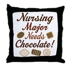 Nursing Major Gift Throw Pillow