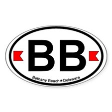 Bethany Beach DE - Oval Design. Decal