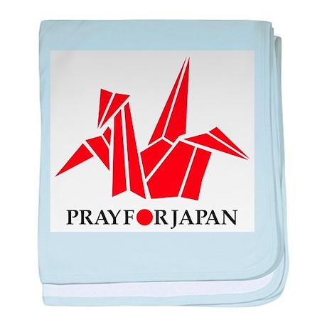 Pray For Japan - Paper Crane baby blanket