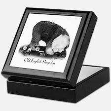 Old English Sheepdog Obedience Keepsake Box