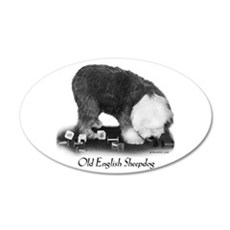 Old English Sheepdog Obedience Wall Decal