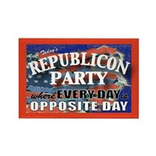 RepubliconOppositeDay Rectangle Magnet