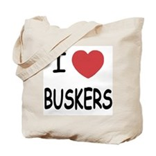 I heart buskers Tote Bag