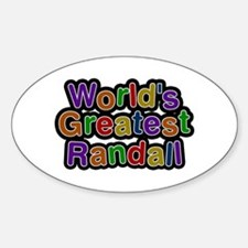 World's Greatest Randall Oval Decal