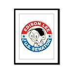 Edison for Senator Framed Panel Print