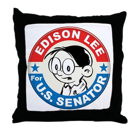 Edison for Senator Throw Pillow