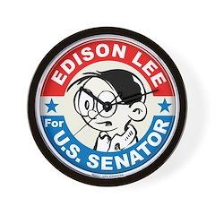 Edison for Senator Wall Clock