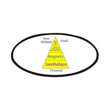 New Orleans Food Pyramid Patches