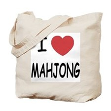 I heart mahjong Tote Bag