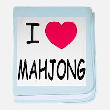 I heart mahjong baby blanket