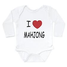 I heart mahjong Long Sleeve Infant Bodysuit