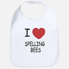 I heart spelling bees Bib