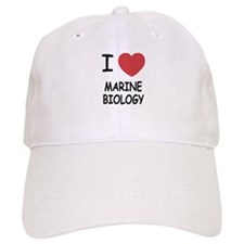 I heart marine biology Baseball Cap