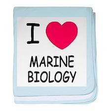 I heart marine biology baby blanket