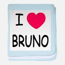 I heart bruno baby blanket