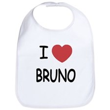 I heart bruno Bib