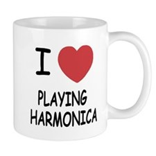 I heart playing harmonica Mug